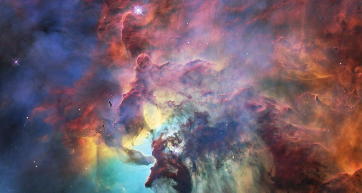 Fotografia da Laguna Nebulosa (Foto: Divulgação/Nasa)
