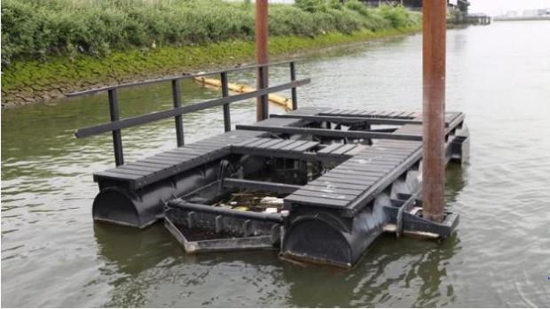 Parque flutuante em Rotterdam é constrúido a partir de plástico reciclável (Foto: Divulgação)
