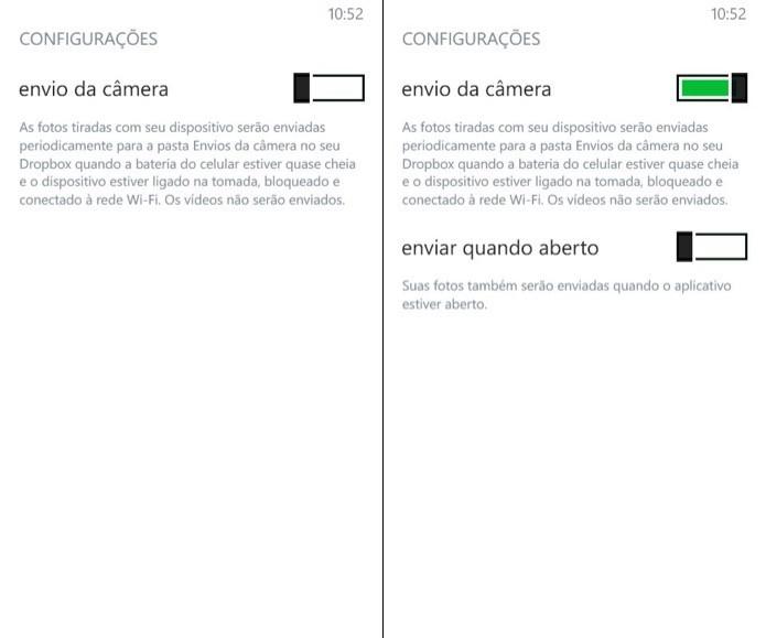 Configurando o envio de fotos no Windows Phone (Foto: Reprodução/Helito Bijora)  (Foto: Configurando o envio de fotos no Windows Phone (Foto: Reprodução/Helito Bijora) )