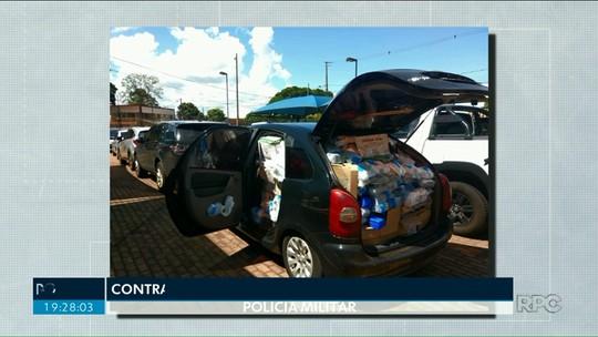 Polícia encontra dois carros com produtos contrabandeados na região de Umuarama
