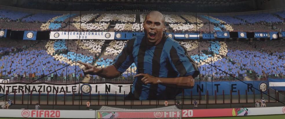 homenagem a Ronaldo no FIFA 20 — Foto: Reprodução/YouTube
