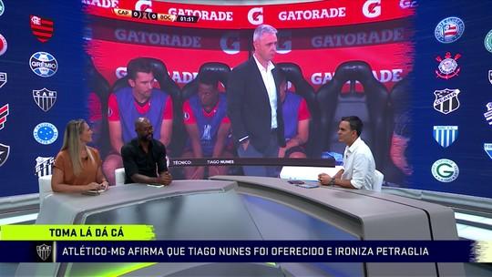 Athlético e Atlético-MG trocam mensagens nas redes sociais por Tiago Nunes