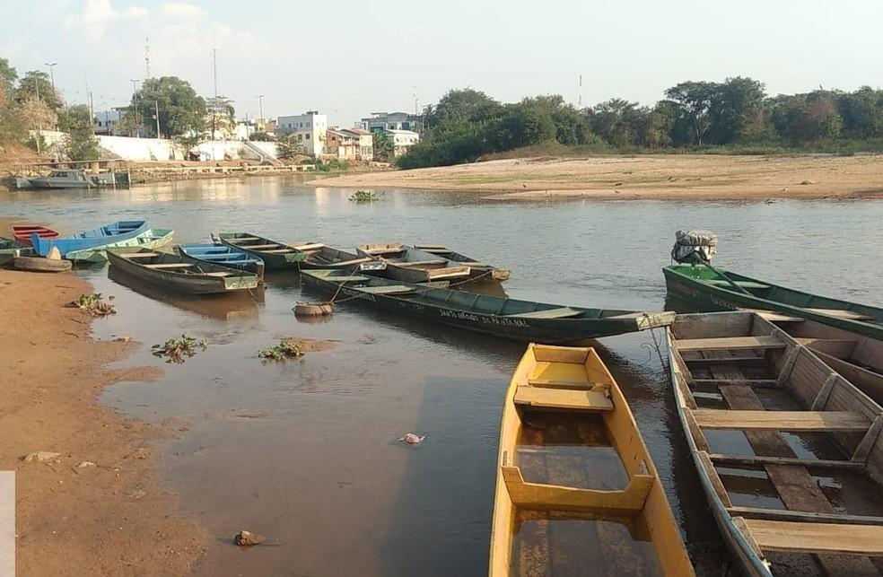 Nível do Rio Paraguai em Cáceres está em 2,10 metros — Foto: Defesa Civil
