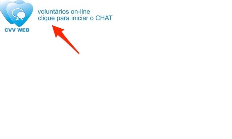 Ação para iniciar o cadastro de informações para abrir um chat com um voluntário do Centro de Valorização da Vida — Foto: Reprodução/Marvin Costa