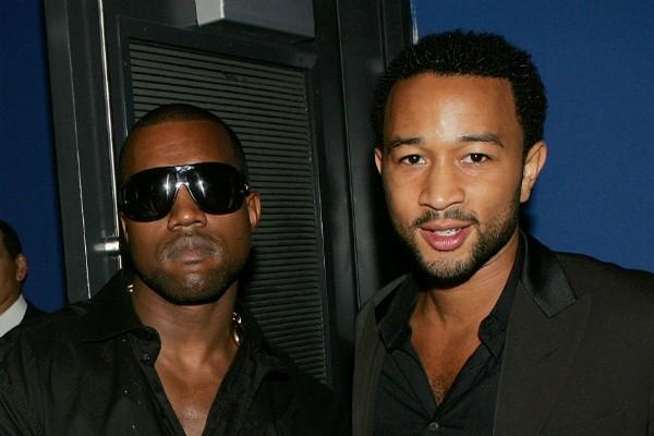 Os músicos Kanye West e John Legend (Foto: Getty Images)