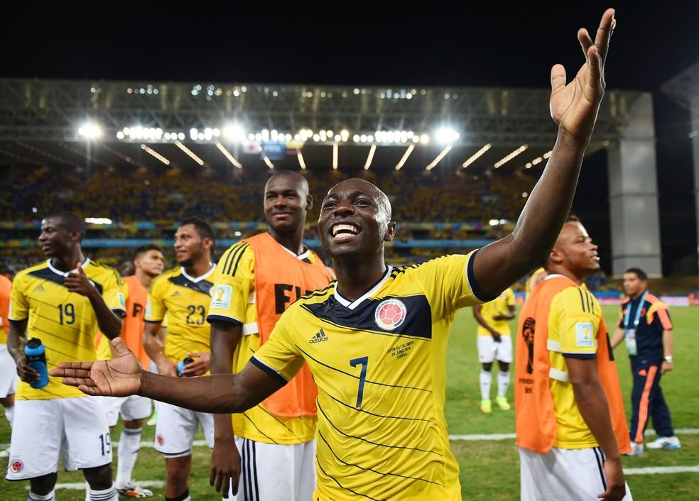 Pablo Armero disputou a Copa de 2014 pela Colômbia — Foto: Getty Images