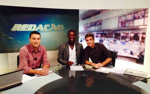 Seedorf Redação SporTV (Foto: Alexandre Sattamini SporTV.com)