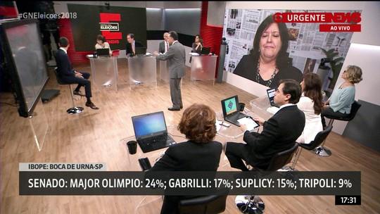Ibope divulga pesquisa de boca de urna para o Senado de São Paulo