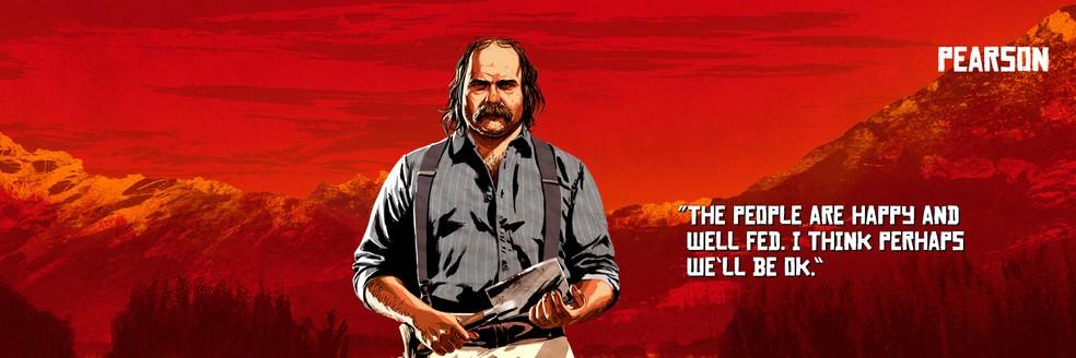 Pearson, de Red Dead Redemption 2 — Foto: Divulgação/Rockstar