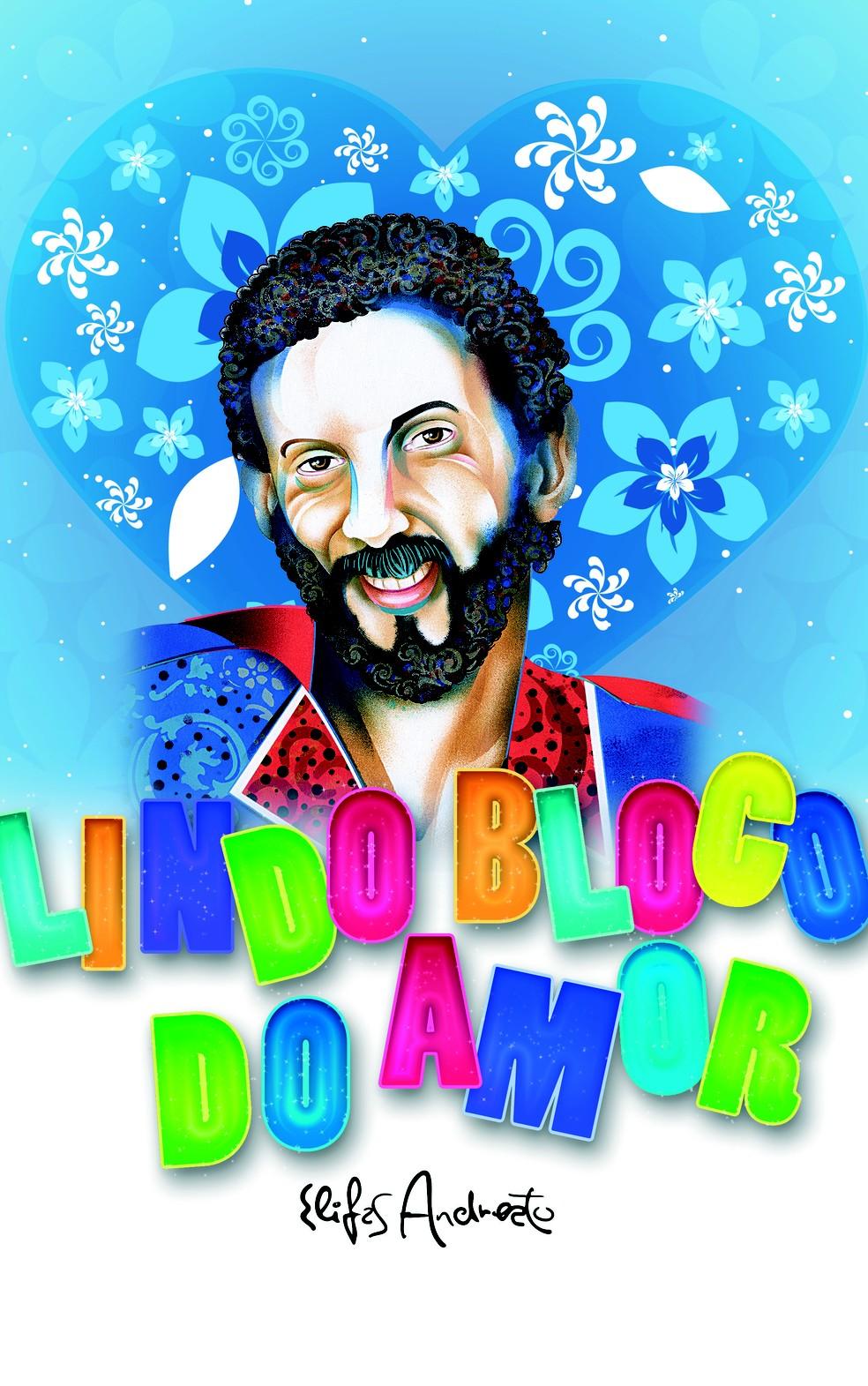 Estandarte do Lindo Bloco do Amor foi criado por Elifas Andreato (Foto: Elifas Andreato/Divulgação)