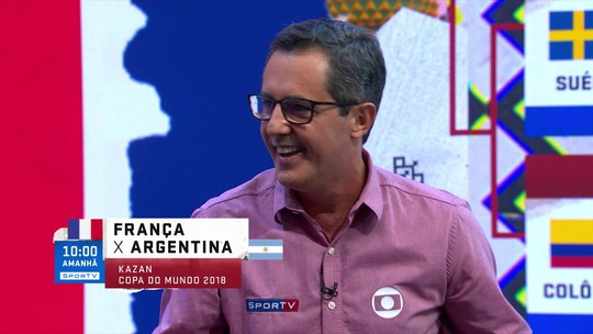 Comentarista diz que França x Argentina será o duelo da equipe mais organizada contra a mais caótica