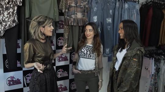 Fashionistas montam looks com tendência militar