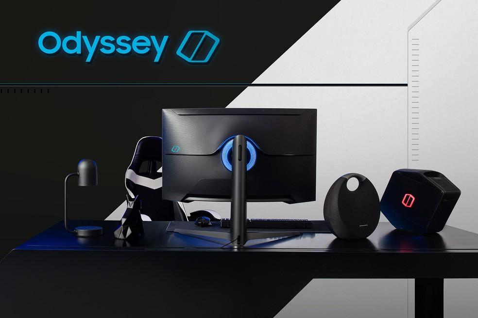 Samsung novo monitor odyssey G7 curvado