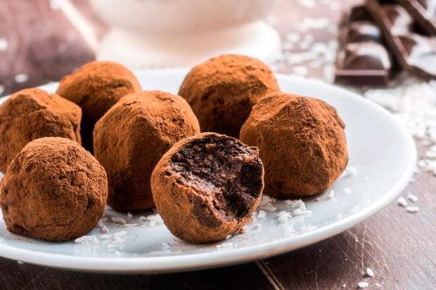 Trufa de chocolate meio amargo com vinho tinto (Foto: Divulgação)