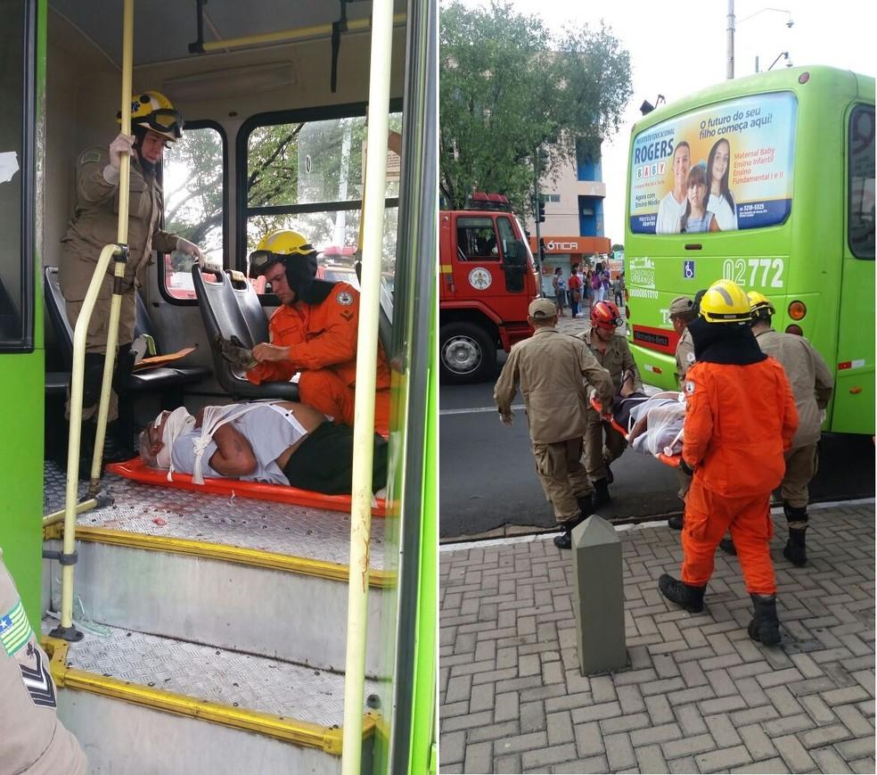Diversos passageiros dos dois veículos ficaram feridos. (Foto: José Marcelo/G1)