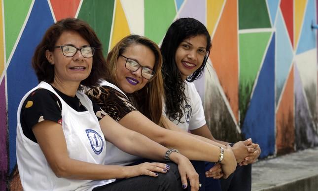 Glória Dorneles, Michelle de Figueiredo e Mariana da Silva concluem o ensino médio no CAp-Ines e prestaram Enem