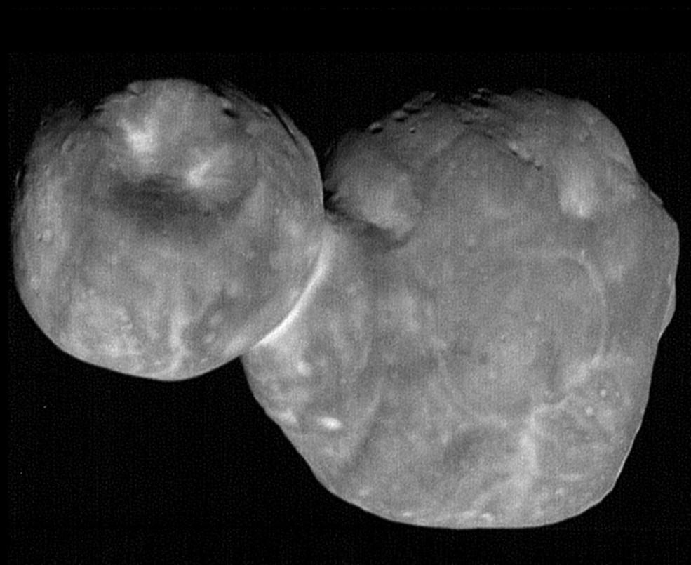 Foto tirada em 1/1/19, quando a sonda New Horizons estava a 6,628 km de Ultima Thule e 6,6 bilhões de km da Terra (Foto: NASA/Johns Hopkins Applied Physics Laboratory/Southwest Research Institute, National Optical Astronomy Observatory)