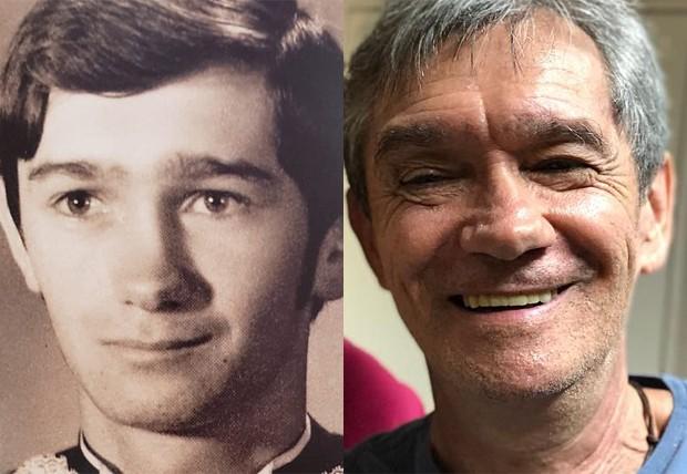 Serginho Groisman em 1977 e em 2018 (Foto: Reprodução/Instagram)