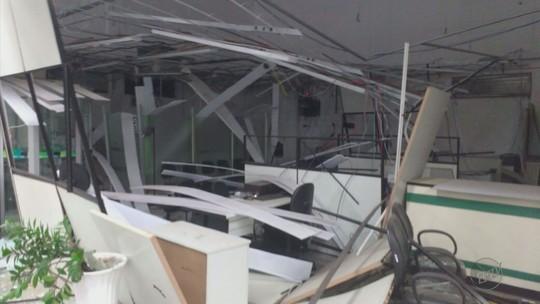 Quadrilha explode cofre bancário dentro de cooperativa em Claraval