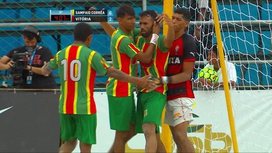 Sampaio Corrêa goleia o Vitória e é  bicampeão da Copa do Brasil de futebol de areia