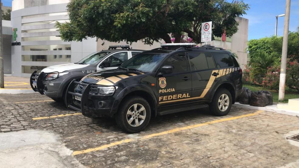 Além da Polícia Militar, a Polícia Federal também foi acionada — Foto: Geraldo Jerônimo/Inter TV Cabugi