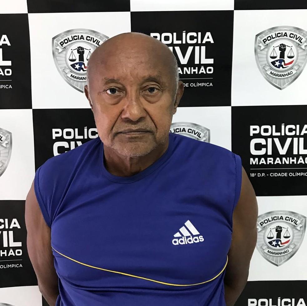 3º sargento reformado Raimundo Martinho Mendes, preso para cumprir pena por tentativa de homicídio — Foto: Divulgação/Polícia Civil