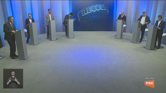 Candidatos ao governo de SC participam de debate na NSC TV