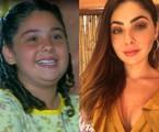 Marcela Barrozo em 'Chocolate com pimenta' e atualmente | TV Globo e reprodução