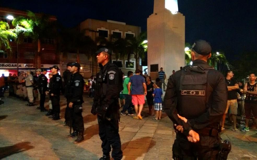 Sejusp afirma que tem reforçado o policiamento em locais com maiores incidências de crimes — Foto: Quésia Melo/G1