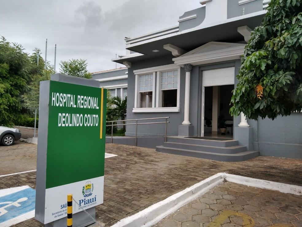 Hospital Deolindo Couto em Oeiras — Foto: Foto: Antônio Rocha