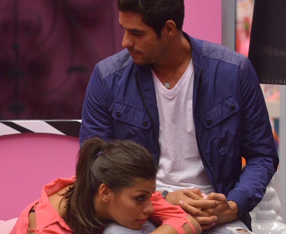 O casal #FranGo durante o BBB14  (Foto: Frederico Rozario/Globo)