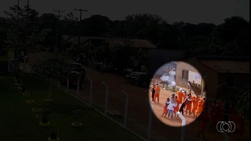 Professora feita refém relembra momentos que passou com criminosos — Foto: Reprodução/TV Anhanguera