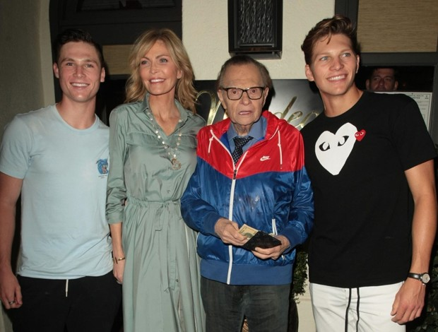 Cannon King, Shawn King, Larry King e Chance King (Foto: BackGrid)