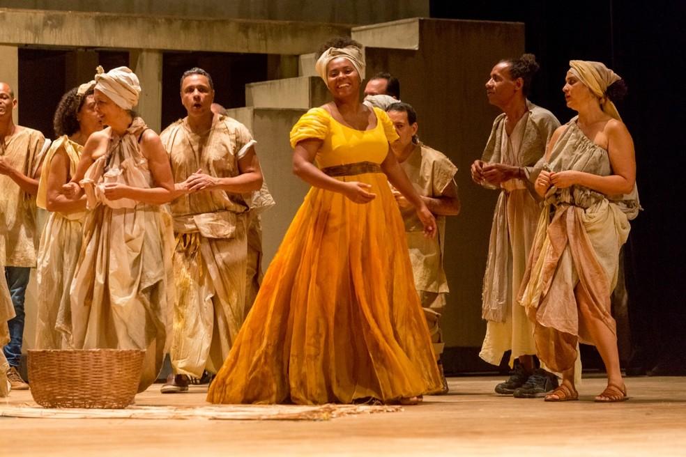 Ópera Lídia de Oxum tem apresentações até sábado, no TCA — Foto: Diney Araújo/Divulgação