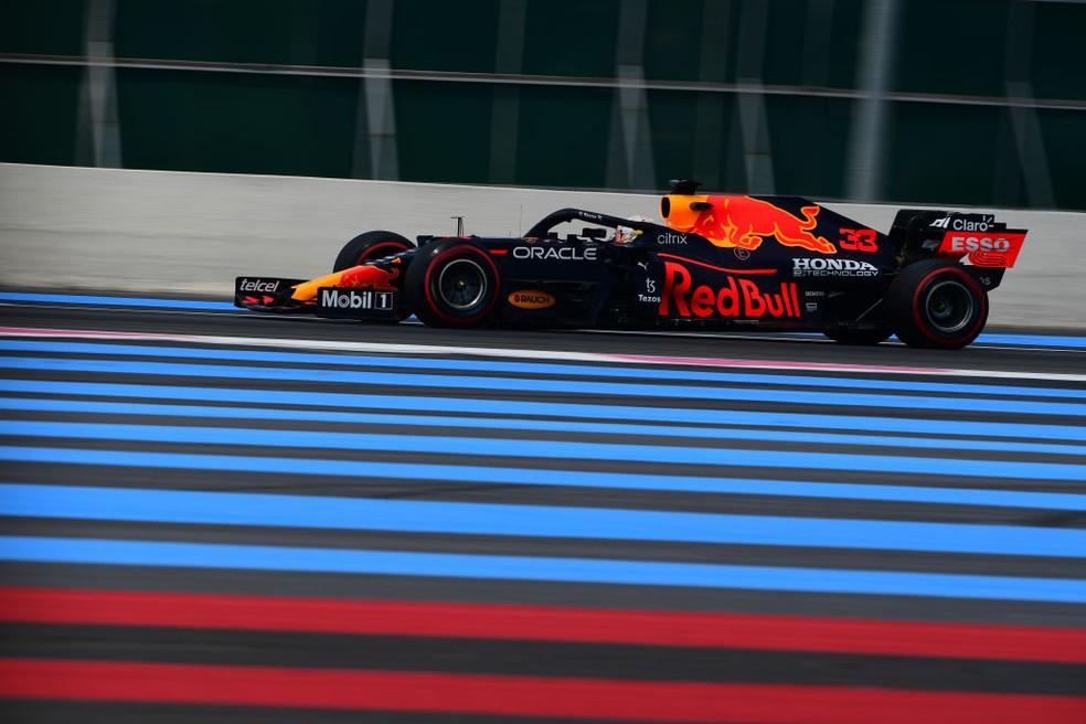 Max Verstappen foi o mais rápido no segundo treino livre do GP da França — Foto: Andrea Diodato/NurPhoto via Getty Images