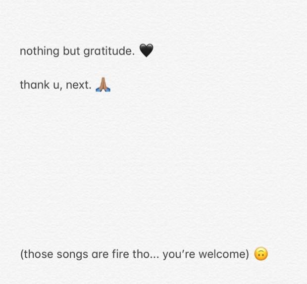 Ricky Alvarez rebate 'Thak U, Next' (Foto: Reprodução / Instagram)