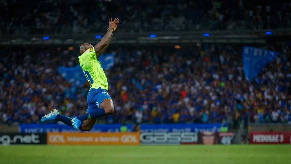 Sassá, que marcou contra o Bahia, será titular contra o Athletico — Foto: Vinnicius Silva/Cruzeiro