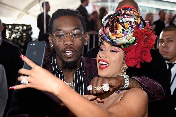 O rapper Offset e a cantora Cardi B (Foto: Getty Images)