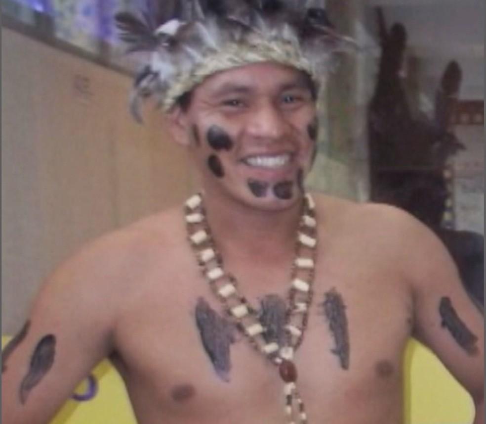 Professor indígena morreu após ser espancado em Penha  (Foto: NSC TV/Reprodução )