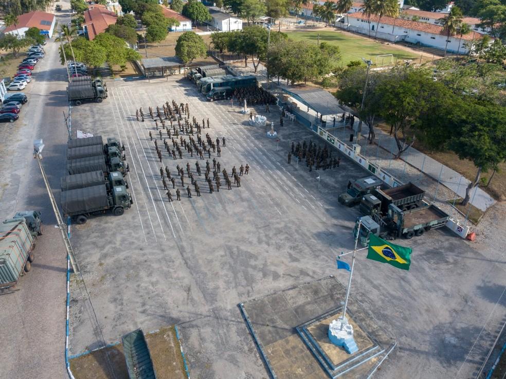 Tropas das Forças Armadas se deslocarão para o interior do RN neste sábado (27) — Foto: Divulgação/ Exército Brasileiro