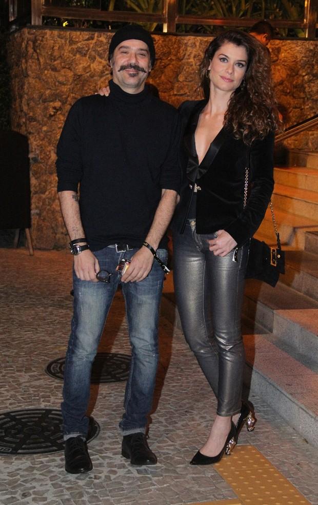 Mauro Lima e Alinne Moraes (Foto: AgNews)