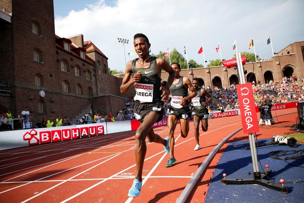 Etíope Selemon Barega, ouro na etapa de Estocolmo da Diamond League, é o favorito nos 5000m  (Foto:  TT News Agency / Christine Olsson via REUTERS)
