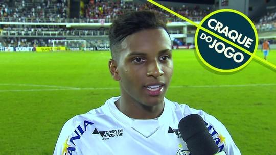 Craque do jogo, Rodrygo diz ter liberação da Seleção que adia despedida do Santos