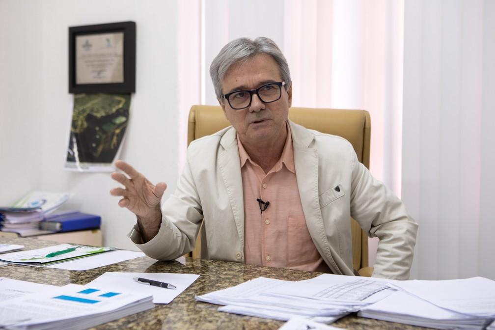 Clécio Falcão, presidente da Companhia de Saneamento Básico de Alagoas (Casal) — Foto: Marcelo Brandt/G1
