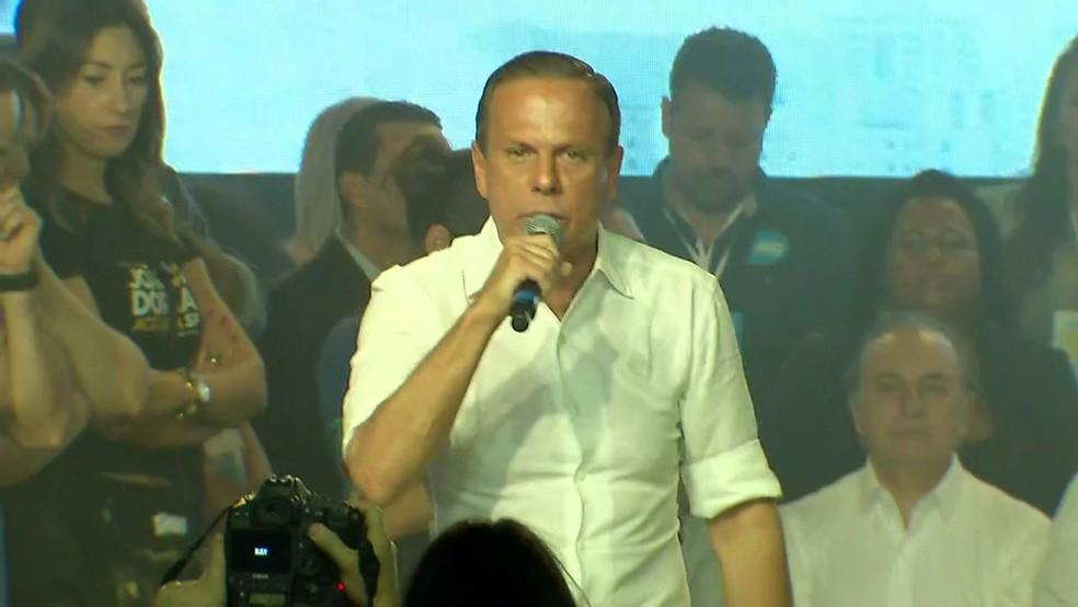 Doria anuncia candidatura ao governo de SP (Foto: Reprodução/TV Globo)