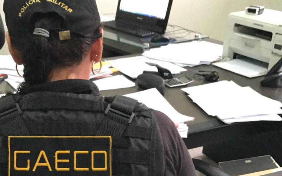 Gaeco cumpre mandados de prisão e de busca e apreensão na operação Bolsão — Foto: Gaeco/Divulgação