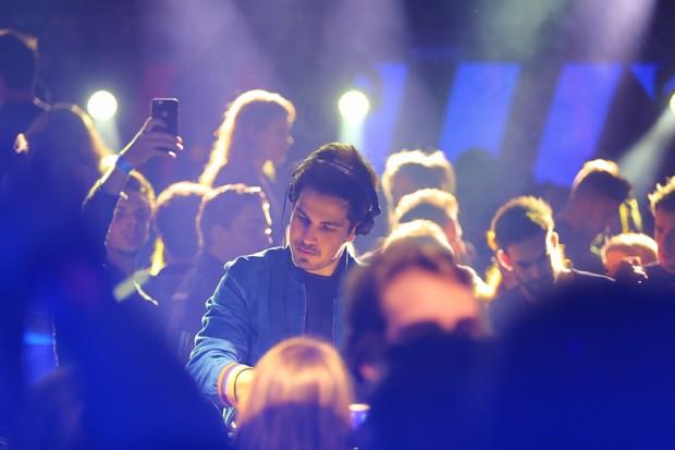 O DJ francês Michael Canitrot, atração do sábado (Foto: Eduardo Alexandre / Divulgação)