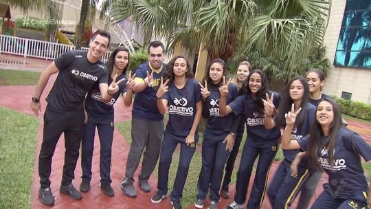 Estudantes comemoram título da 16ª Copa TV Tribuna de Futsal Escolar