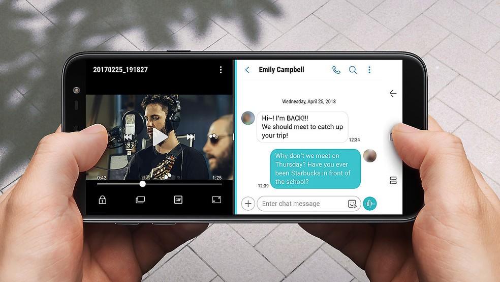 cf0c34700 ... Galaxy J6  confira os prós e contras do smartphone intermediário da  Samsung — Foto