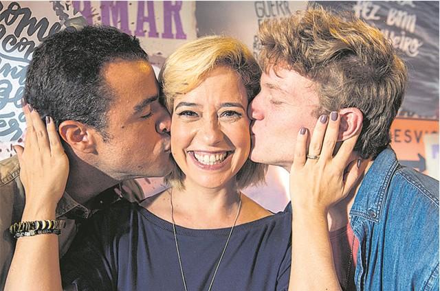 Joaquim Lopes, Paloma Duarte e Pedro Novaes em 'Malhação - Toda forma de amar' (Foto: TV Globo/Estevam Avellar)